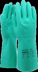 PVC werkhandschoen Nitrile groen