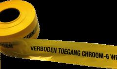 Afzetband geel/zwart chroom-6