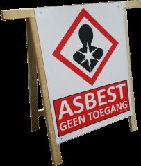 Klapschraag met asbestbord