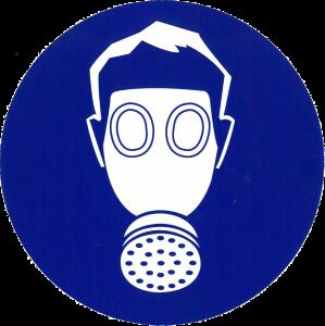 Sticker adembescherming 200mm