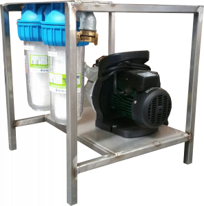 Waterfilterrek 2 filters met pomp