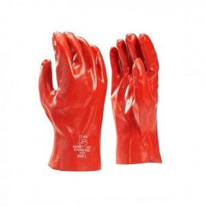 PVC handschoen 4121 rood