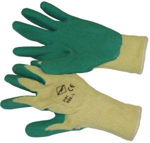 Stratenmaker handschoen groen/geel