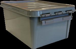Opbergbox 8 liter grijs