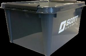Opbergbox 32 liter grijs
