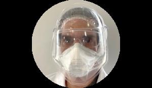 Face shield anti-fog