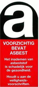 Asbest sticker vel