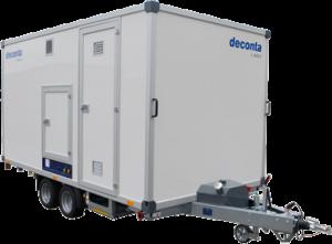 Deco-unit, mobiele douchewagen