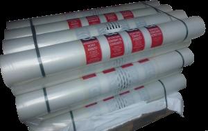 Folie  bedrukt asbest  290 cm x 100 mtr