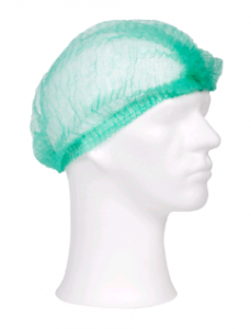 Haarnet non-woven wokkel groen 52 cm