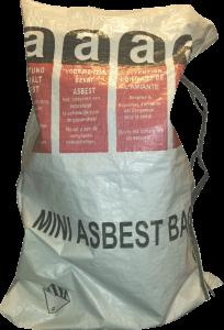 Mini asbestzak met dubbele liner