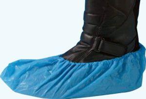 PE overschoenen blauw