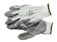 Montage handschoen Nylon grijs/wit